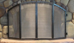 Bi-folding Fireplace Screen